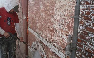 Verf verwijderen op gevel en buitenmuren